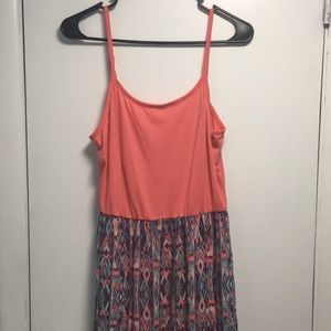 2 for $10/Maxi Dress | Coral with Print Design